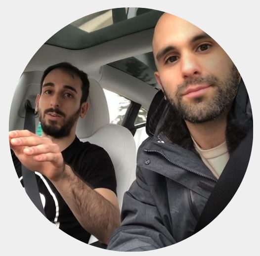 joe and mike in car