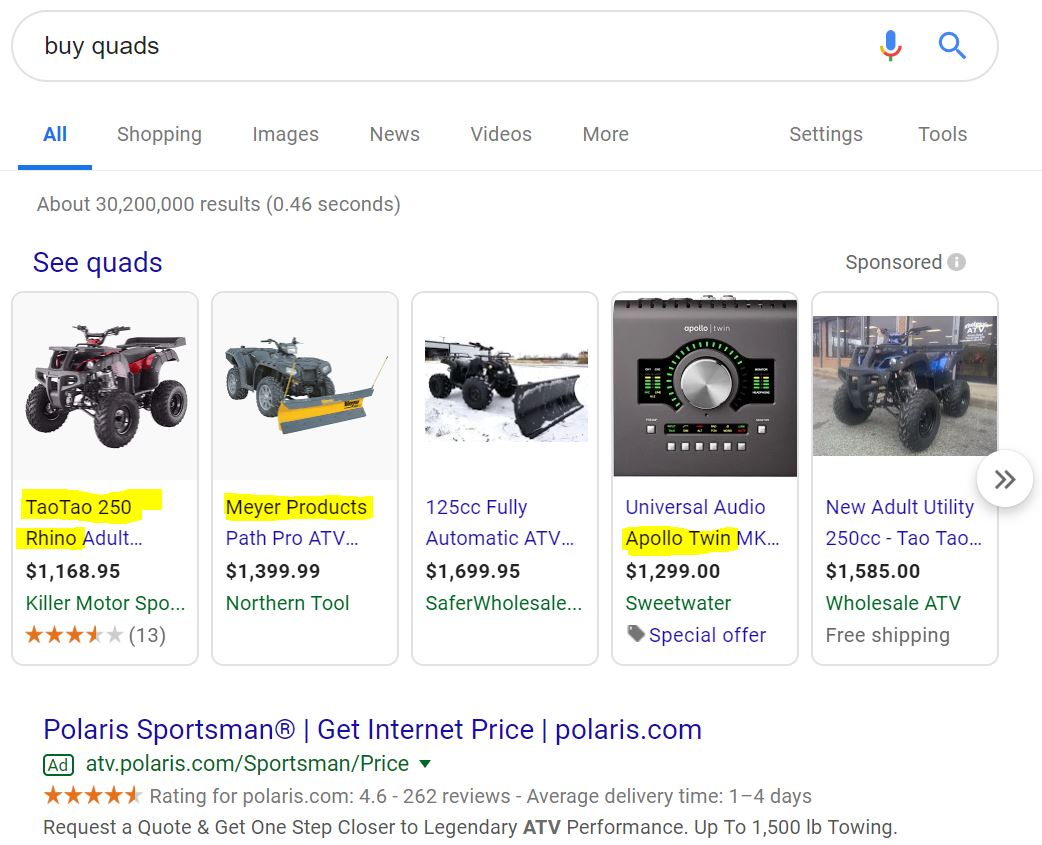 example of how to find dropshipping suppliers from a google search