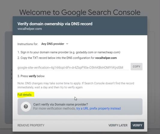 Affiliate Site Tip: Webmaster Console Verification