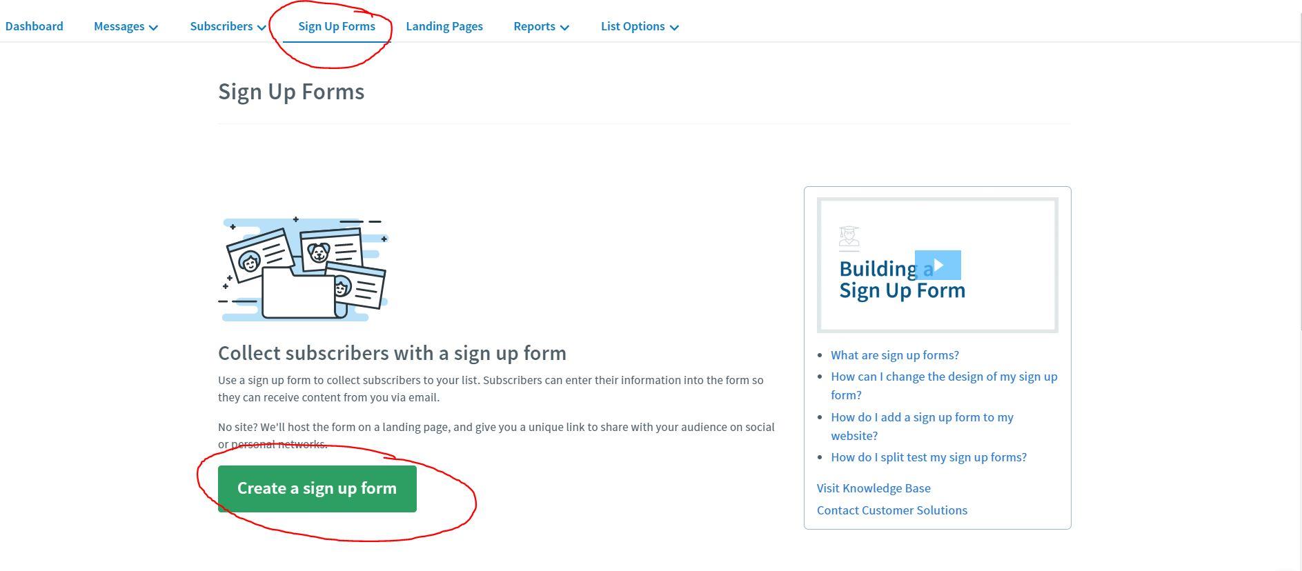 aweber blog sign up form email list